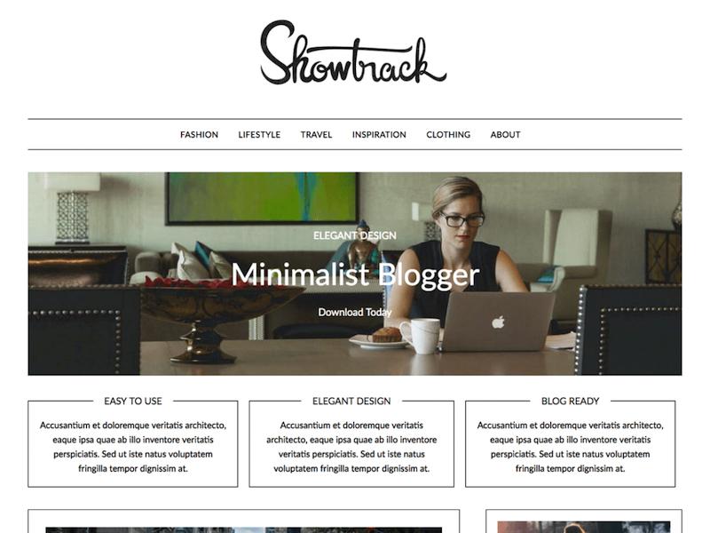 Utilice el tema Minimalistblogger en lugar de BeTheme