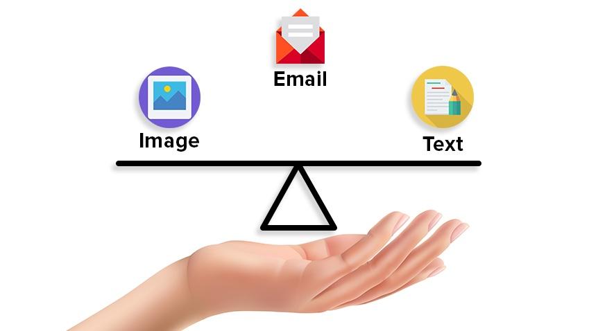 balance de filtros de spam en imagen de texto