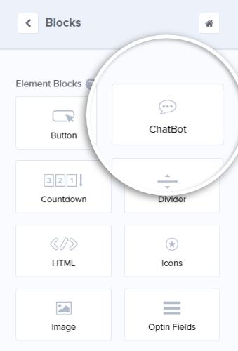 agregar chatbot
