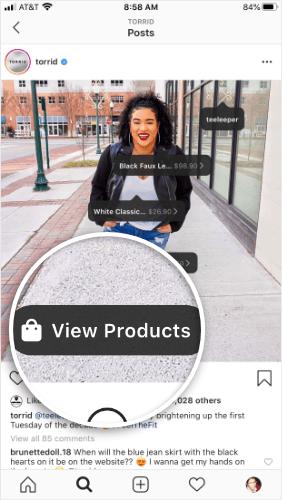 botón de ver productos tórridos