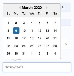 Seleccione la fecha para su temporizador de cuenta regresiva