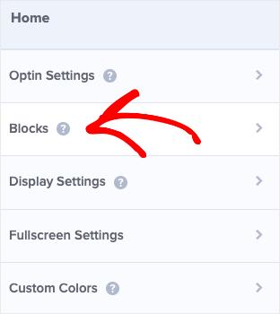 Haga clic en bloques para agregar un botón