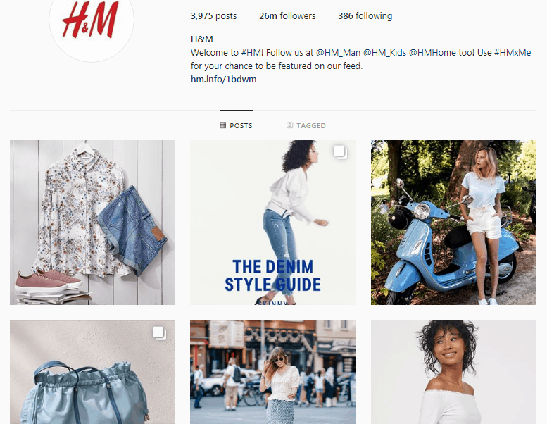 marca H&M - b2c marketing en redes sociales