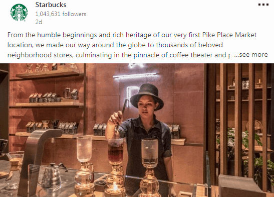 Starbucks - b2c marketing en redes sociales