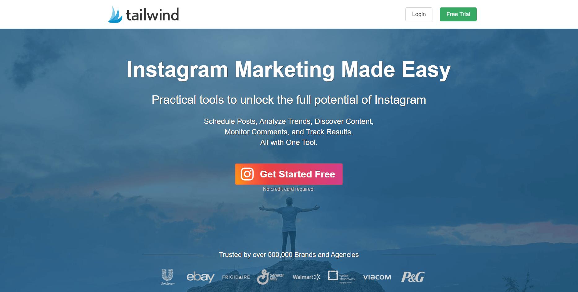 Herramienta de análisis de Instagram tailwindapp1