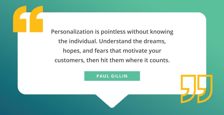cita sobre personalización