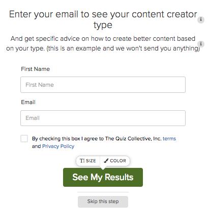 ingrese el correo electrónico para los resultados de la prueba