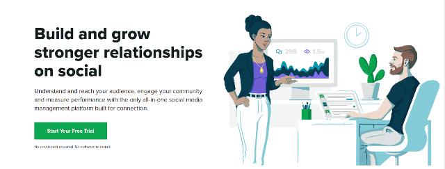 Herramienta de gestión de redes sociales sociales de Sprout