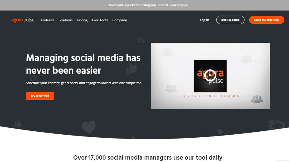 Herramientas de gestión de redes sociales de Agorapulse