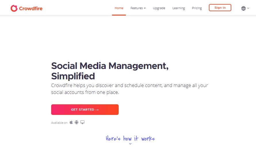 Crowdfire Herramientas de gestión de redes sociales