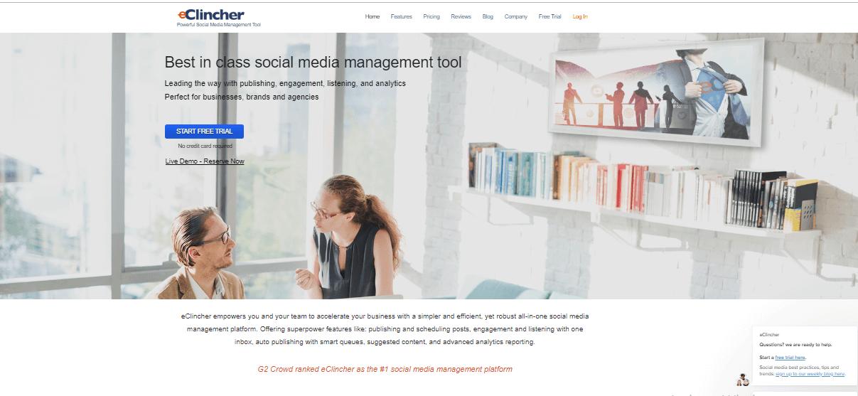 Herramientas de administración de medios sociales de eClincher