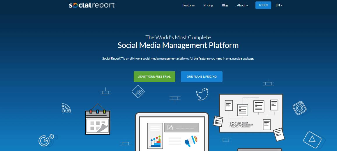 Herramientas de administración de redes sociales para informes sociales