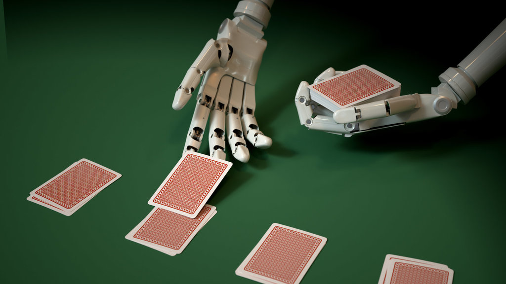 Image result for Images for A robot playing poker