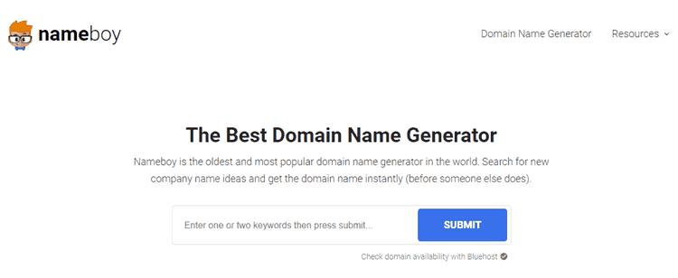 17 Generadores de nombres de blog para encontrar grandes dominios con facilidad 11