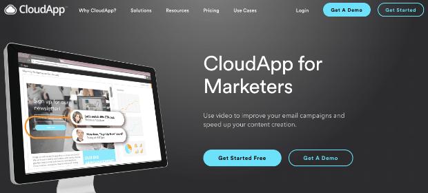 Página de ventas de CloudApp