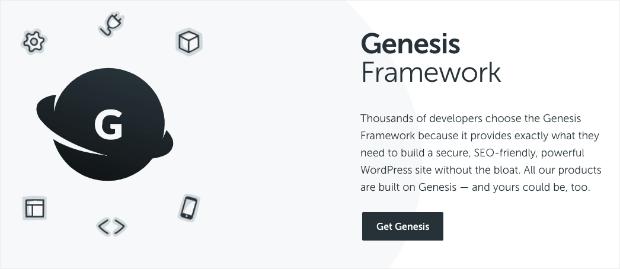 Página de ventas de Genesis Framework