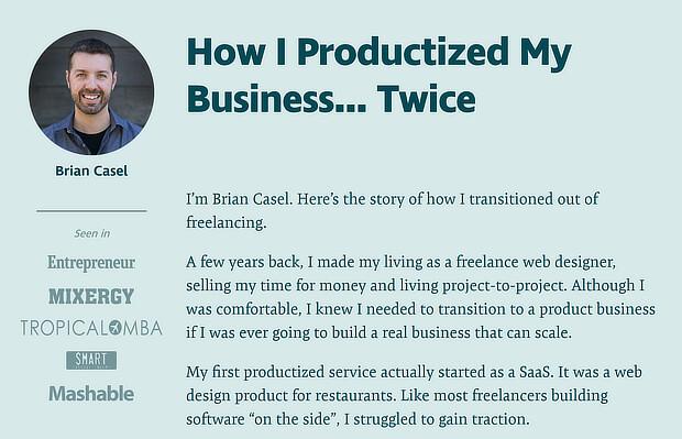 25 ejemplos de páginas de ventas productivas