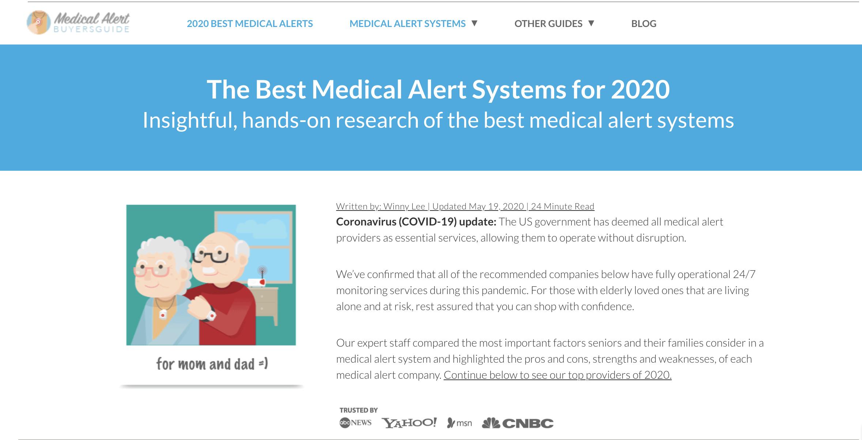 sistemas de alerta médica 2020