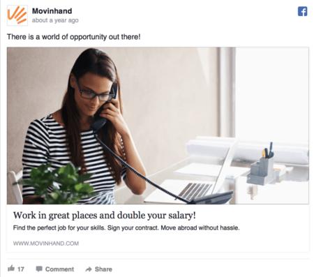 como escribir increible Facebook Copia de anuncios