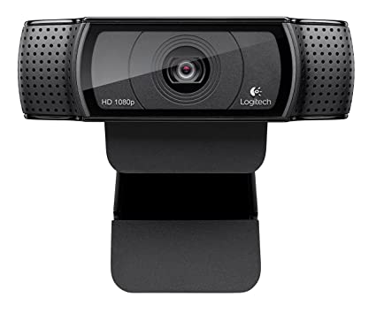Logitech HD Pro Webcam C920, videollamadas y grabación de pantalla panorámica, cámara de 1080p, cámara web de escritorio o portátil