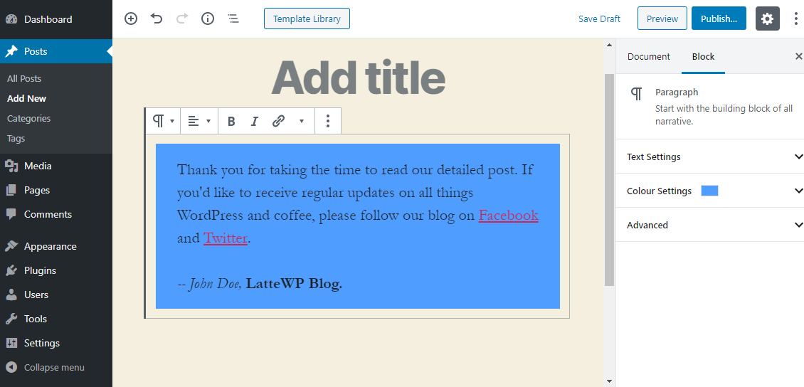 WordPress-də Gutenberg bloklarını necə ixrac və idxal etmək olar 2