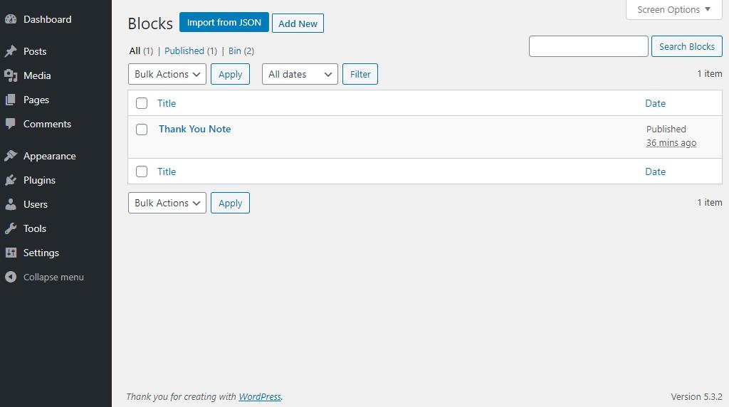 So exportieren und importieren Sie Gutenberg-Blöcke in WordPress 4