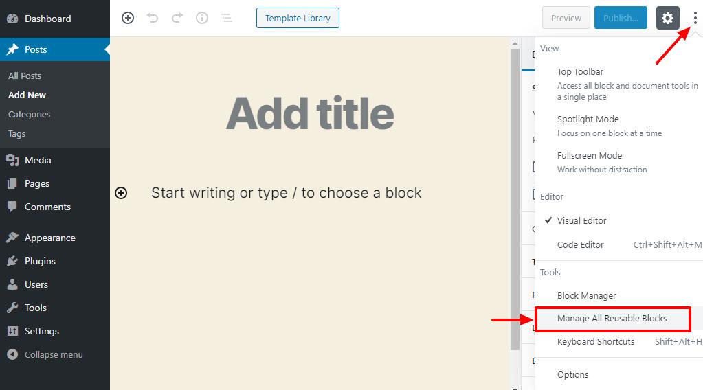 WordPress-də Gutenberg bloklarını necə ixrac və idxal etmək olar 8