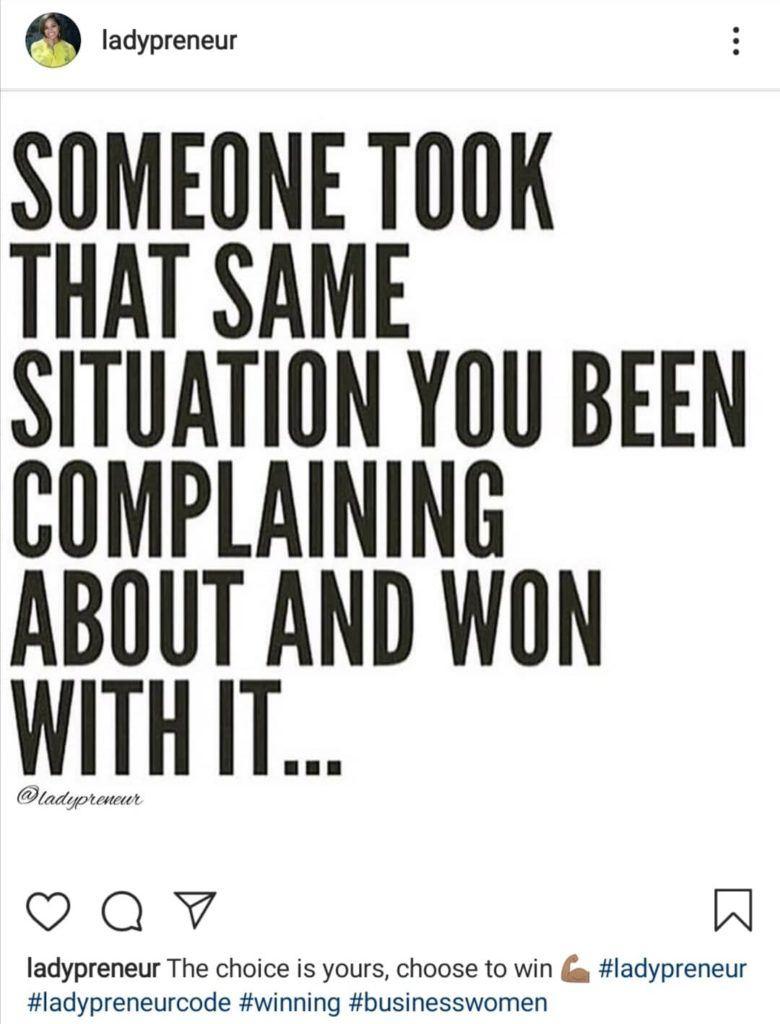 Motivación de ladypreneur Instagram