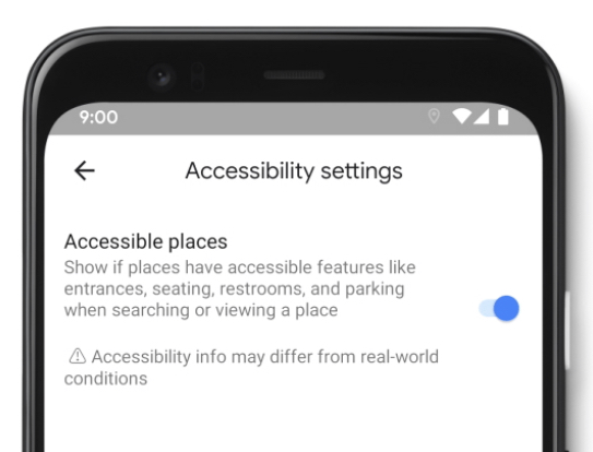 Yeni Google Xəritədə əlil arabasının əlçatan yerləri vurğulanır