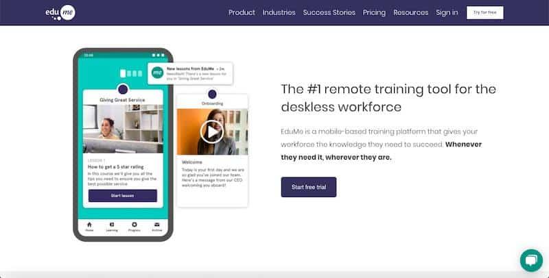 EduMe - plataforma de aprendizaje electrónico basada en dispositivos móviles