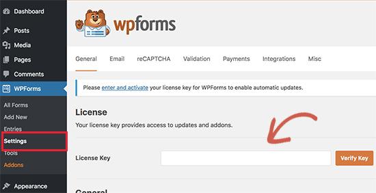WPForms-Lizenz