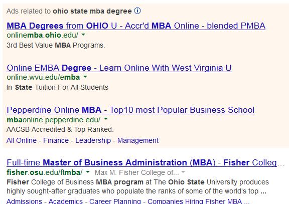 Resultados de la búsqueda de MBA