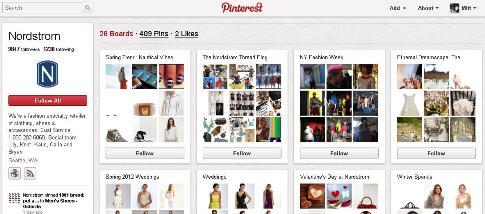 Profil Pinterest Nordstrom