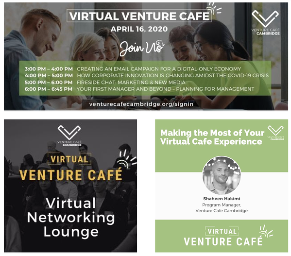 Eventos virtuales de Venture cafe para pequeñas empresas