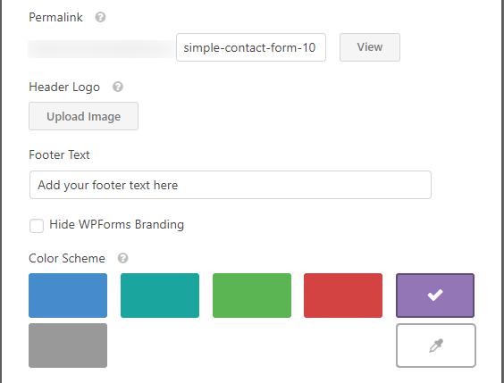Configuración de complementos del paquete de plantillas de WPForms Builder, formulario con estilo de formularios de Google