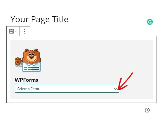 Publsih wpforms formulario de página de destino, formulario de formularios de google