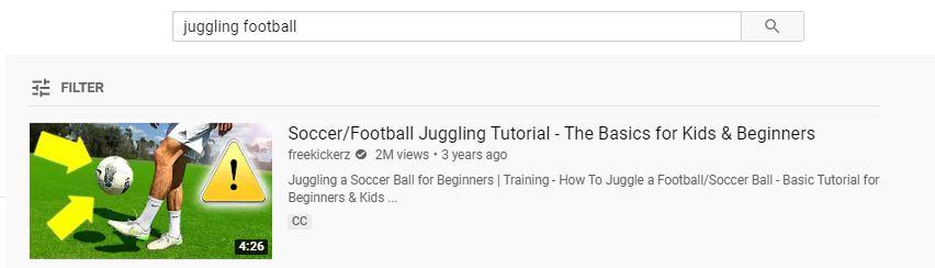 resultado superior para la palabra clave malabarismo de fútbol basado en resultados de palabras clave