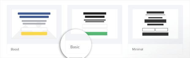 Crear una plantilla básica de campaña en línea