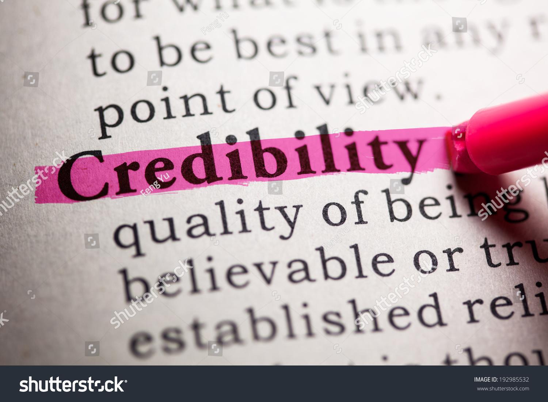 Resultado de imagen para imagen para la palabra credibilidad