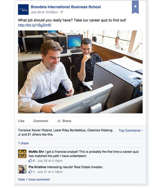 cuestionario de educación superior de facebook