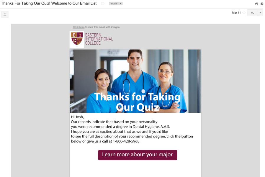 cuestionario captura de correo electrónico seguimiento