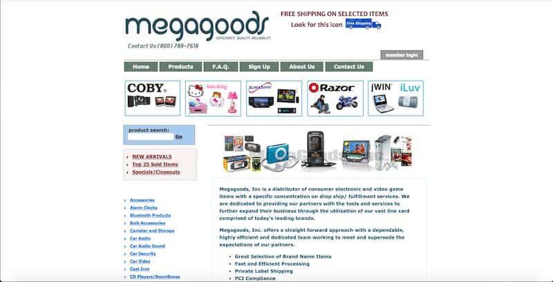 Megagoods - plataforma de dropshipping