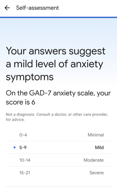 Google agrega una autoevaluación del trastorno de ansiedad a los resultados de búsqueda
