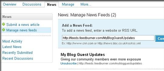 Agregar fuente de noticias