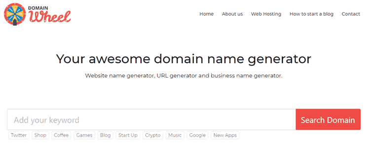 17 Generadores de nombres de blog para encontrar grandes dominios con facilidad 10
