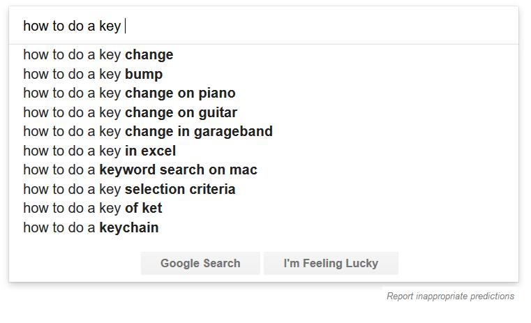 investigación de sugerencias de google