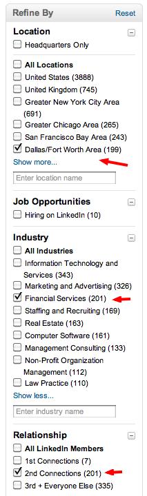 búsqueda de negocios en linkedin