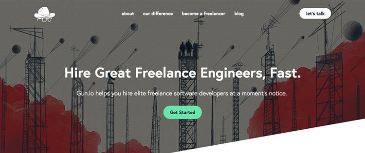 La mejor pistola de sitios web de trabajos independientes para ingenieros