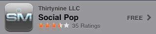 Aplicación de iPhone Social Pop