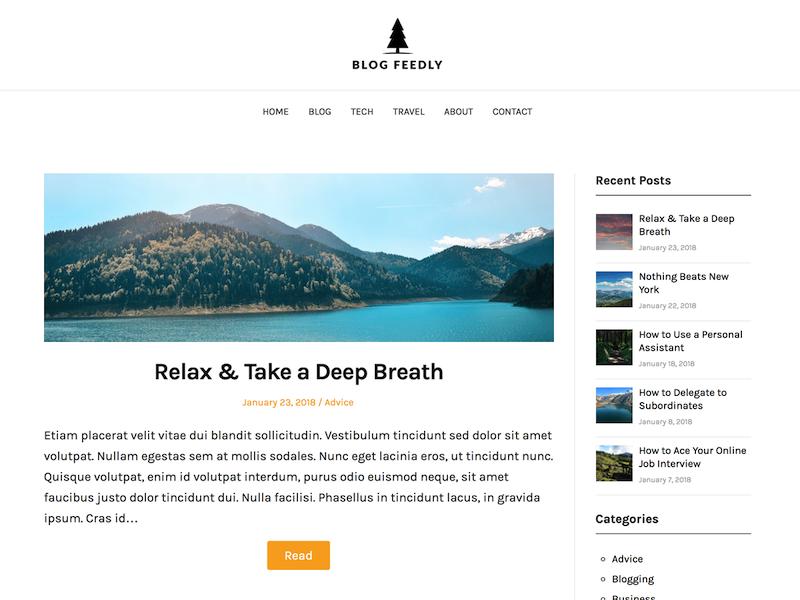 Blogfeedly es el segundo tema de WordPress más carbono neutral